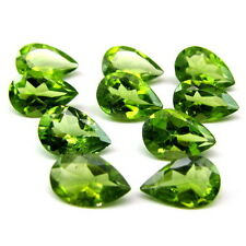 12.3Ct 10pc Lot Natural Green Peridot Pear 9X6mm Faceted Gemstones