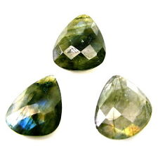 Color Play 17.3Ct 3pc Lot Natural Labradorite Fancy Checker Gemstones