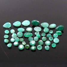 7.7Ct 45pc Lot Natural Emerald (Panna) Mix Shape Faceted Gemstones