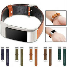 Geniune Leather Fashion Sports Bracelet Wrist Strap Band For Fitbit Charge 2 UK
