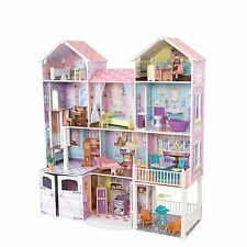 KidKraft Country Estates Wooden Pretend Play Dollhouse with Furniture | 65242