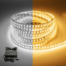 Kit striscia led 5 mt IP65 con alimentatore 12v strip 600 smd 2835 bobina 5m 60w