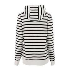 Women Casual Pullover Jumper Tops Long Sleeve Hoodie Sweatshirt Striped Sweater