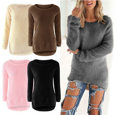 Women Autumn Winter Long Sleeve Knitted Sweater Jumper Pullover Tops Blouse UT