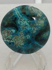 MALACHITE CHRYSOCOLLA ROUND PENDANT BEAD 1 1/2 IN. NATURAL BLUE GREEN #196