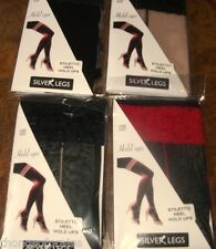 Ladies Lace Top Holdups Heel & Seam Nude/Black  Black/Red  Black/Nude Black/Blk