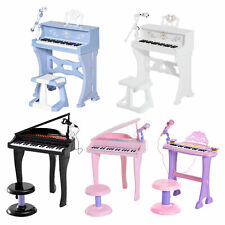 37/32 Key Kids Electronic Keyboard Mini Grand Piano Stool Microphone Musical Toy