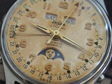 Beautiful Vintage 1950's ENICAR Triple Date Moonphase Gents Automatic Watch