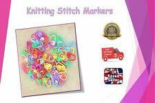 Knitting Stitch Holders Plastic Locking Needles Markers For Crochet Craft Clip
