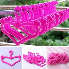Lots Barbie Blythe for dolls Pink Plastic Clothes Hangers Doll Cute ACCESSORIE