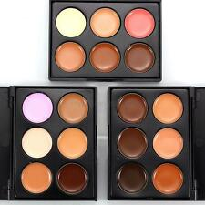 Beauty Women Concealer Cream Palette Primer Contour Concealer+Brush Kit Cosmetic