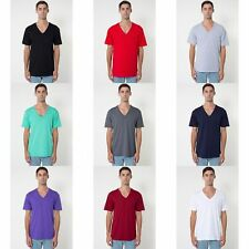 American Apparel Mens/Womens Short Sleeve V-Neck Plain T-Shirt/Tee