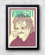 Vonnegut Print! Kurt Vonnegut Poster, slaughterhouse five, cats cradle, anti-war
