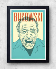Bukowski Print! Charles Bukowski Poster, Post Office, Ham On Rye, realism, Los