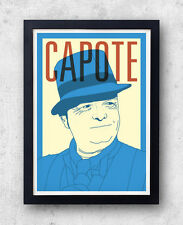 Capote Print! Truman Capote Poster,Breakfast at Tiffany's, in cold blood, harper