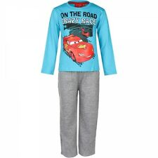 Disney Cars Pyjama  Schlafanzug On the road crazy race für Jungen in blaugrau Gr