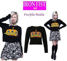Iron Fist Finger Food Fast Food Gruesome Burger Sweater S/UK8 Last One