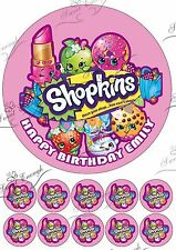 SHOPKINS Large Cake Topper Edible Icing Paper Birthday Personalised PARTY