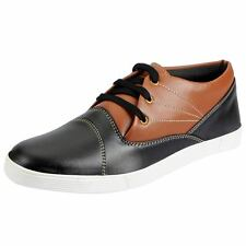 FAUSTO Black Men's Derby Sneakers