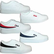 Mens Fila Vulc 13 Lo Top Leather Casual Athletic Sneakers Shoes F13 White N