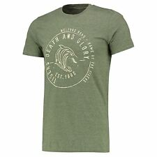 Leicester Tigers Mens Gents Rugby Glory T Shirt Tee Top - Heather Green