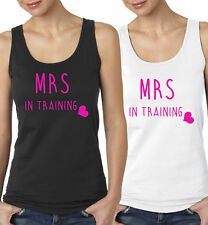 Mrs In Training Vest Top Hen Party Wedding Christmas Gift Present Bride Night Do