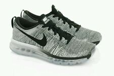 NEW Nike Flyknit Max Oreo Airmax White/Black-Cool Grey Running 620469 102 8