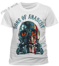 OFFICIAL Sons Of Anarchy Flame Skull T Shirt Mens Unisex NEW S M L XXL Samcro
