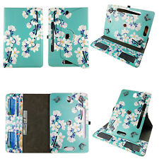 """Universal 7"""" Android Tablet Case 7 inch Folio syn Leather Rotating Cover pocket"""