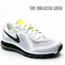 NIKE AIR MAX 2014 RUNNING SHOES SIZE: 10 WHITE VOLT 621077 100