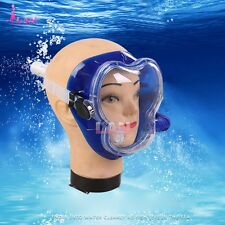 Full Face Toughened Glass Snorkeling Mask Scuba Diving Swimming Snorkel Breather