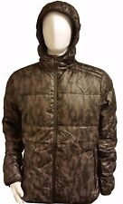 EDE=99 Mens Padded Hooded Diamond Goose Feather Quilted Coat Cord