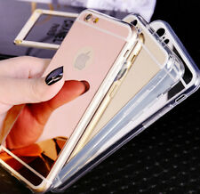 Luxury Ultra-thin Mirror Soft Case Cover for Apple iPhone 5 5s 6 6s 7 7+