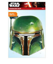 Boba Fett Star Wars Carta Mascherina Verde Cacciatore Testa Metallo Look