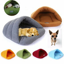 Cozy Pet  Puppy Cave Crate Cozy Warm Winter Bed House Sleeping Bag Plush Mat Dog