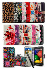 LG K7 Dual SIM - Printed Pattern Design Book Wallet Case Cover & Stylus Pen