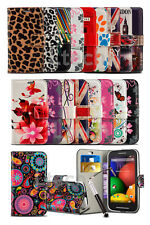 Vodafone Smart Turbo 7 - Printed Pattern Creative Wallet Case Cover & Ret Pen