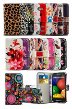 Vodafone Smart Turbo 7 - Colourful Printed Pattern Card Slot Wallet Case Cover