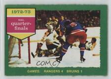 1973-74 O-Pee-Chee #194 New York Rangers Team Boston Bruins Hockey Card