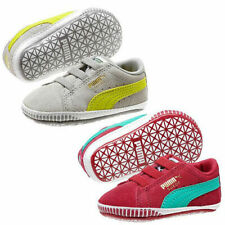 GENUINE Puma Pink Suede Baby Girls Quality Trainers Shoes Crib 4 ... 4e50dacc7
