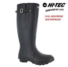 LADIES WOMENS HI TEC WELLIES FULL NEOPRENE FESTIVAL WATERPROOF WELLINGTON BOOTS