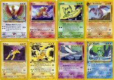 Pokemon cards. Neo Revelation set. Lugia Ho-Oh Raichu Suicune Entei Raikou etc.