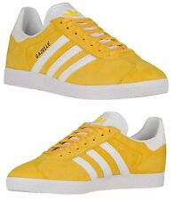 ADIDAS ORIGINALS GAZELLE MEN's SPORT PACK CASUAL YELLOW - WHITE - GOLD META