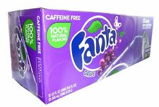 Original Pack of 12 Fanta Grape 355ml Cans Flavor American Soft Fizzy Drink Soda