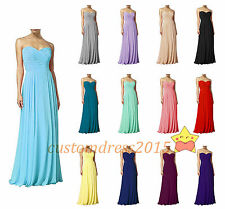 In STOCK Formal Chiffon Bridesmaid Dresses Wedding Party Prom Ball Gowns Evening