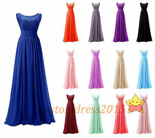 In STOCK Formal Lace Chiffon Bridesmaid Dresses Wedding Party Prom Gowns Evening