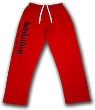 MENS   BODYBUILDING CLOTHING WORKOUT  FITNESS ATHLETIC GYM TRAINING PANTS RED