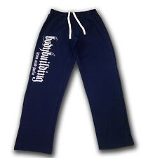 MENS   BODYBUILDING CLOTHING WORKOUT  FITNESS ATHLETIC GYM TRAINING PANTS NAVY