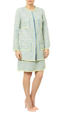 Darling Esmee Coat UK 10 - 16 RRP�105 Tweed Duck Egg Blue Lime Occasion Wedding