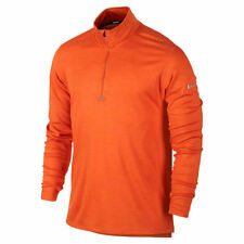Nike Dri-FIT Wool Half Zip Men's Running Shirt - Orange/Reflective Silver